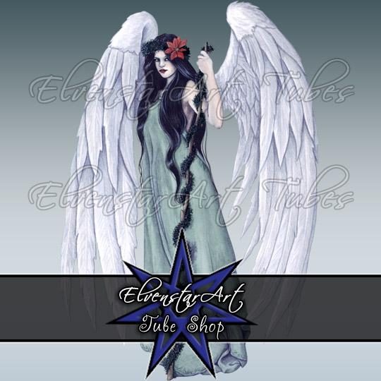 PSP Tubes Angel Of Christmas - ElvenstarArt
