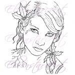 Holly Digi Stamp Digital Download