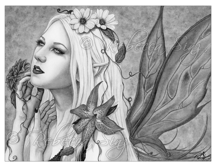 Fantasy Art Grayscale Coloring Book Pages Bundle Download