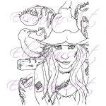 The Harvest Scarecrow Digi Stamp Digital Download