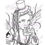 Toxic Fairy Digi Stamp Digital Download
