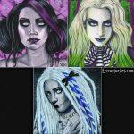 All 3 Undead Series Original Paintings