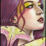 Chinese Moon Moth Limited Edition ACEO Prints
