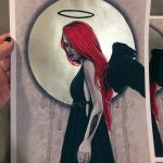 Black Halo Metallic Hand-Embellished Limited Editions Prints
