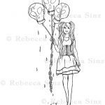 Balloons Gothic Lolita Coloring Book Page Download