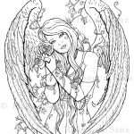 Wither Gothic Angel Coloring Book Page Download