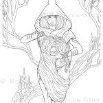 Druid Coloring Book Page Download