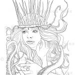 Sea Witch Coloring Book Page Download