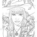 Autumn Magick Coloring Book Page Download